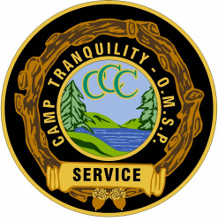 Camp Tranquility Service Award Patch