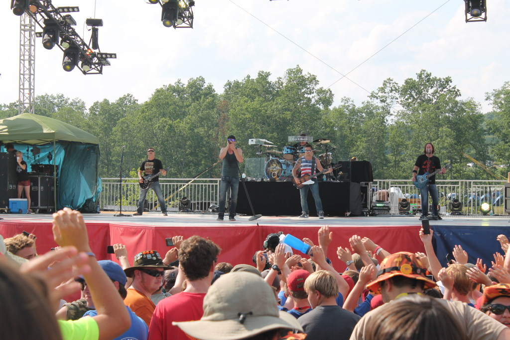Musical entertainment, 3 Doors Down, rocking out at the 2013 Jamboree arena show.