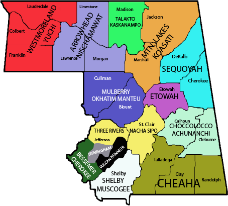 Coosa Lodge Chapter Map