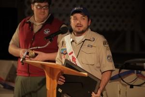 Kyle Dotson accepts the Founder's Award