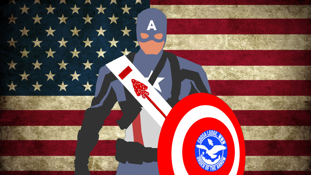 Captain America Joins Coosa Lodge!