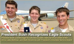 2008 SR-6S Conclave Guest, Jake Wellman (National OA Chief), was awarded the President's Volunteer Service Award